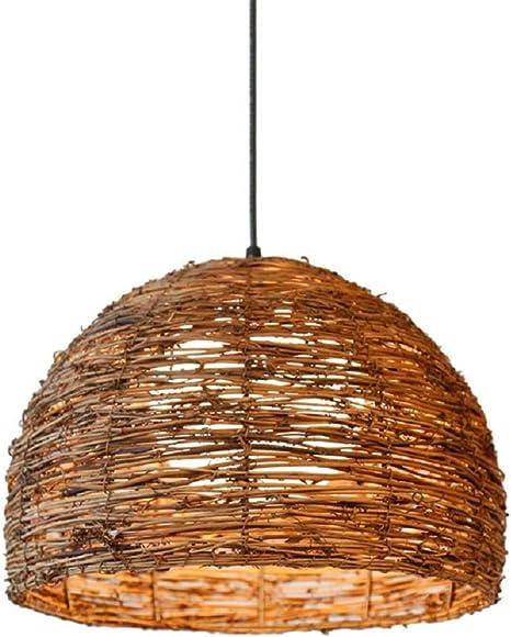 Amazon Com Rattan Pendant Lighting For Kitchen Island Xindar Ceiling Lighting Fixtures Hanging Lamp Creative Rattan Chandelier Inner Orb White Shade For Bar Cafe Living Room Home Improvement