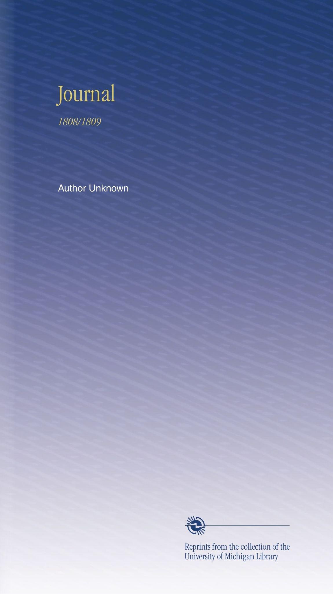 Journal: 1808/1809 PDF
