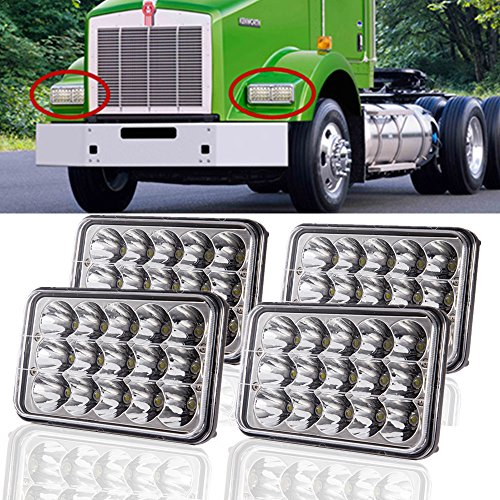 Lamp Bulb Sealed Beam (SUP-LIGHT 4PCS 4X6'' LED Headlight Bulbs Sealed Beam Headlamps Replacement HID Xenon H4651 H4652 H4656 H4666 H6545)