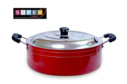 Super Classic Non-Stick Aluminium Casserole Set, 3-Pieces, Red (2.6RCSR260)