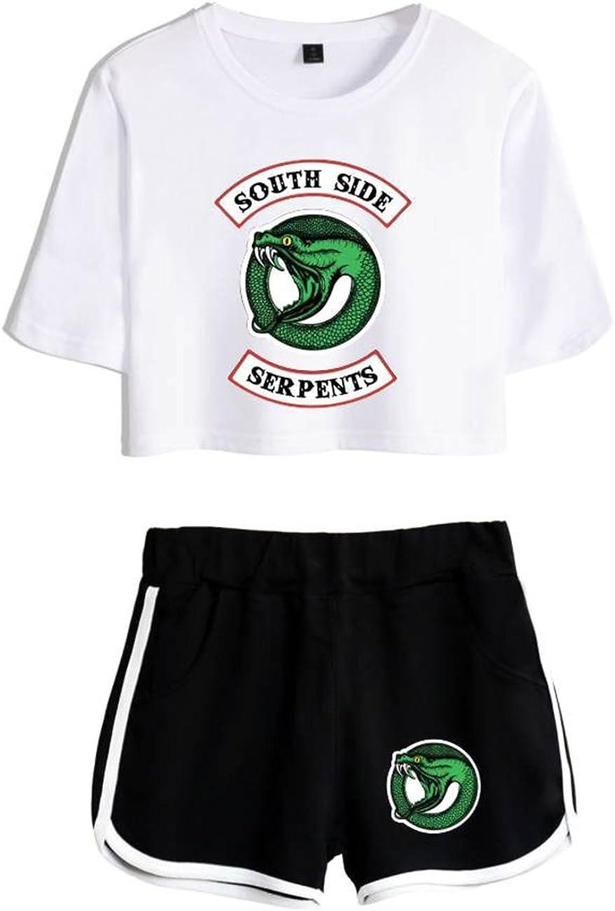 ZIGJOY Southside Crop Top T-Shirts und Shorts Kleidung Anzug f/ür M/ädchen und Frauen