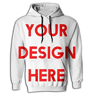 497aecb56 Amazon.com: Custom Men Pullover Hooded Sweatshirt Add Personalized Message  Picture Hoodies Cozy Drawstring Kangaroo Pockets: Clothing