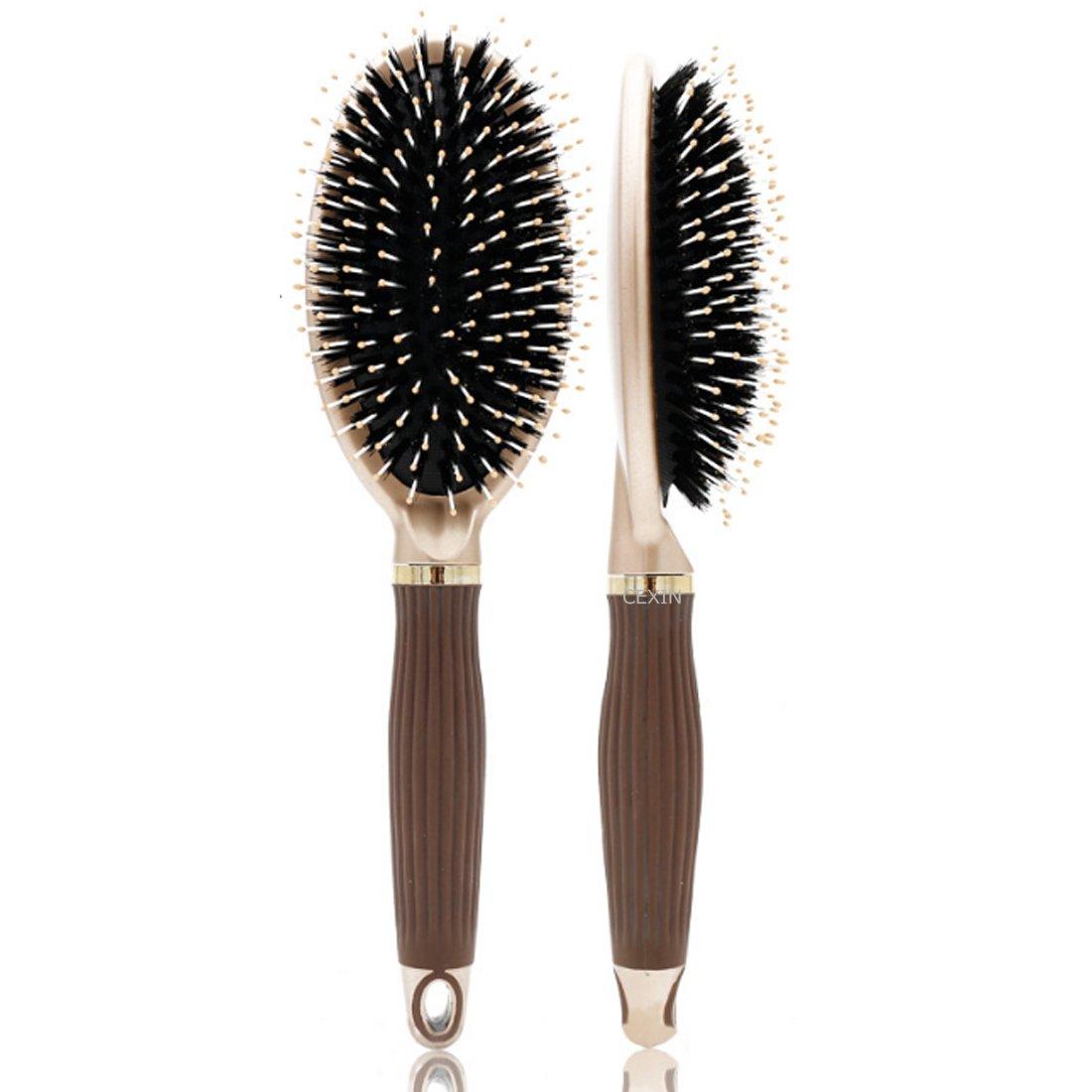 professionnel Poils en nylon Peigne démêlant antistatique Massage Brosse à cheveux bouclés coiffure Peigne Cexin