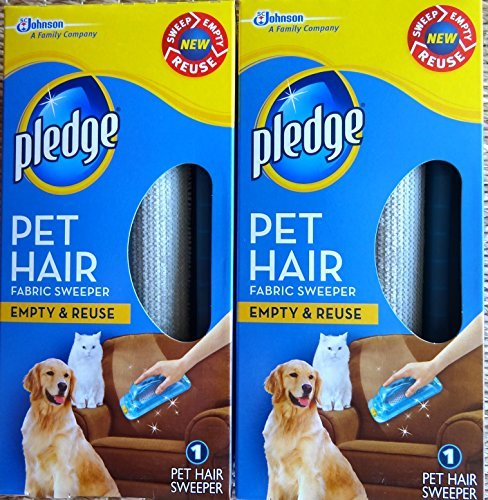 Pledge Fabric Sweeper for Pet Hair, Empty and Reuse, 1 Sweeper (2 Pack) by Pledge