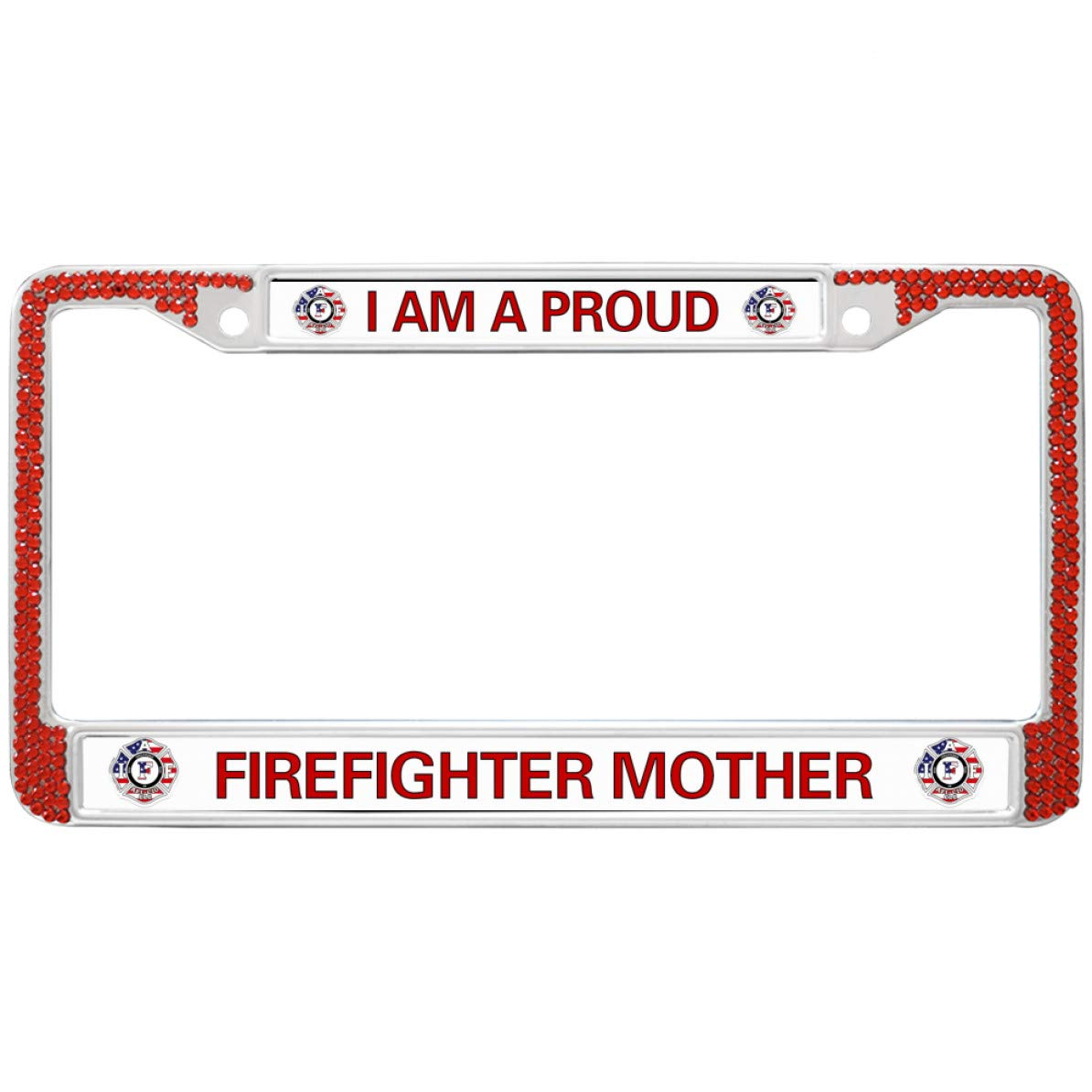 FORD EXPLORER Chrome Plated Brass License Plate Frame with Chrome Caps AUTHENTIC