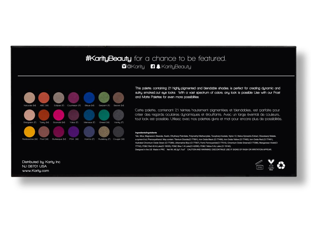 21 Highly Pigmented Professional Eyeshadow Palette Eye Shadow Makeup Kit Set Pro Palette High-end Formula (Smokey) by Karity (Image #5)