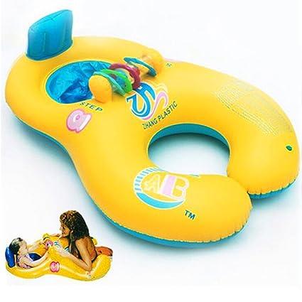 QIND - Flotador de Natación para Mamá y bebé, Suave, Hinchable, Asiento de