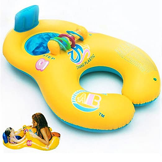 QIND - Flotador de Natación para Mamá y bebé, Suave, Hinchable ...