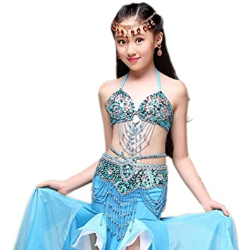 Wgwioo Chica Princesa Belly Dance Falda India Diamond Sequins ...