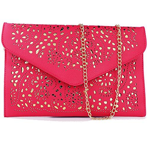 women bag 2017 bolsa feminina women purses and handbags women leather handbags crossbody bags for women crossbody purse bolsos mujer elegante bag small crossbody bags for women clutch bag (rose red) by imentha (Image #8)