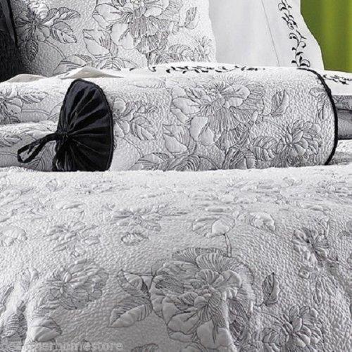 Garden Neckroll - Lenox Moonlit Garden Neckroll Pillow (Black/White)