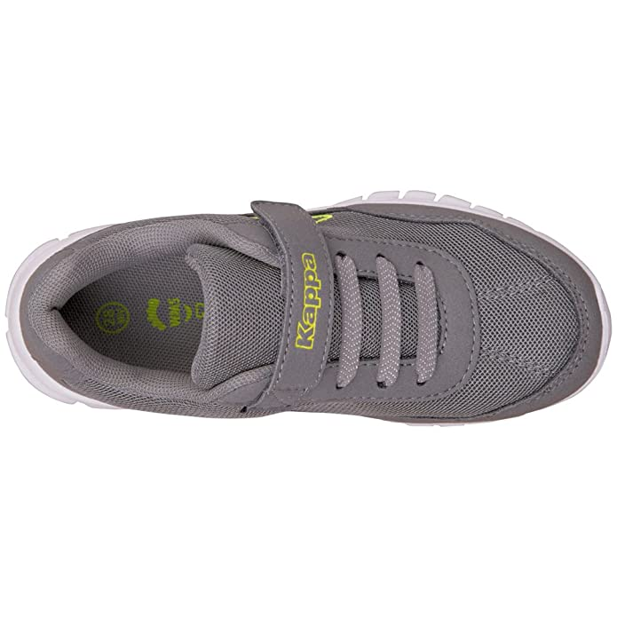 Kappa Apollo Kids, Zapatillas Unisex Niños, Grau (1633 Grey/Lime), 30 EU