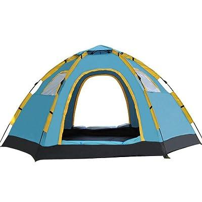Gaojuan Tente extérieure ouverte tente 5-8 personnes tente de camping Camping tente paresseux hexagone vitesse tente ouverte pop up tente dôme tente de trekking