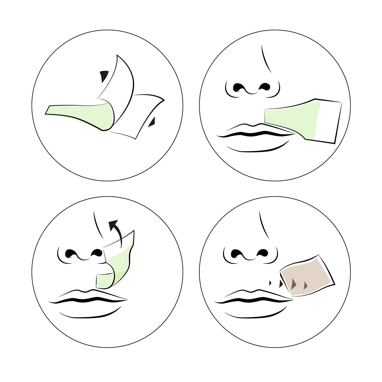 andmetics Lip Wax Strips - Labios fría Cera depilatoria rayas para cara, 12 unidades: Amazon.es: Belleza