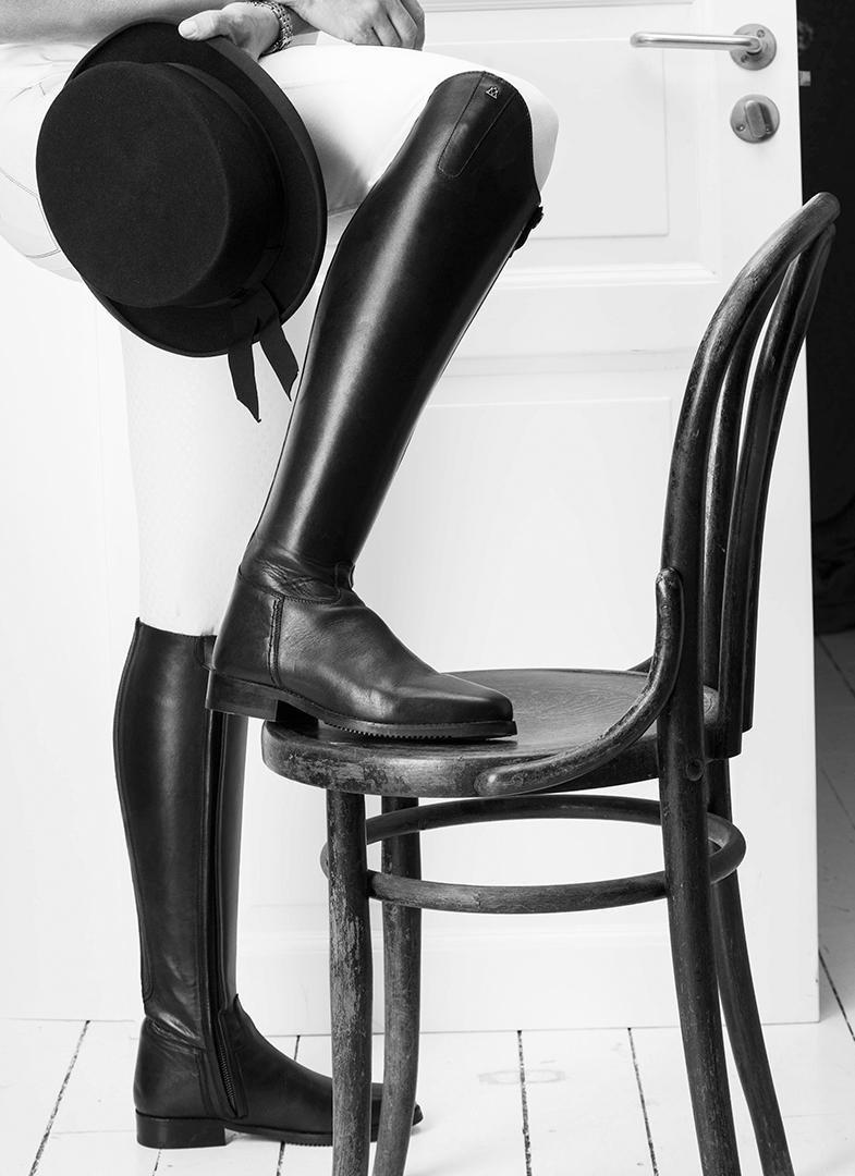 Montagne Cheval pour Femme Serenade Long Bottes d'équitation Noir