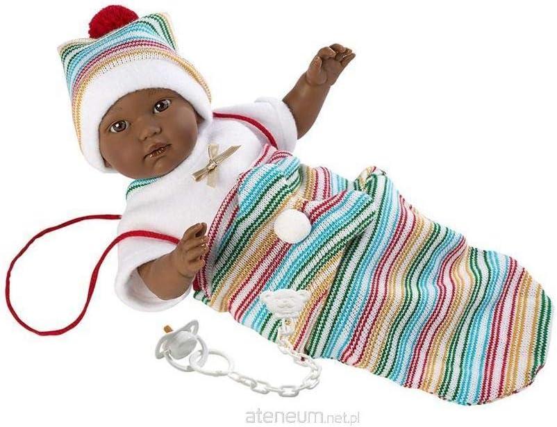 Muñeca Cuqui, con Ojos Marrones y Cuerpo Suave, muñeca de bebé, Incluye Tribal Blanco y Cambiador, tamaño 30 cm