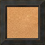 Framed Cork Board, Choose Your Custom Size, Signore Bronze Wood