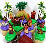 "MOANA Birthday CUPCAKE Topper Set Featuring Moana Figures,Themed Decorative Accessories, Figures Average 1"" to 4"" Tall"