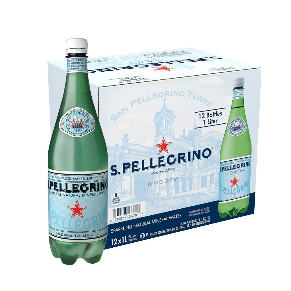 San Pellegrino CFDSFDS Sparkling Natural Mineral Water, 33.8 fl oz, 2 Cases of 12
