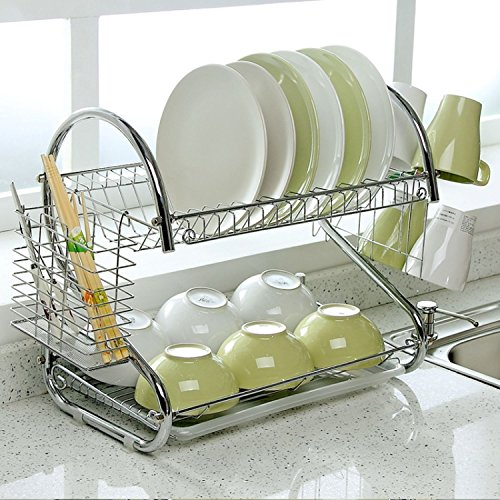 2-Tier Dish Rack and DrainBoard, 20