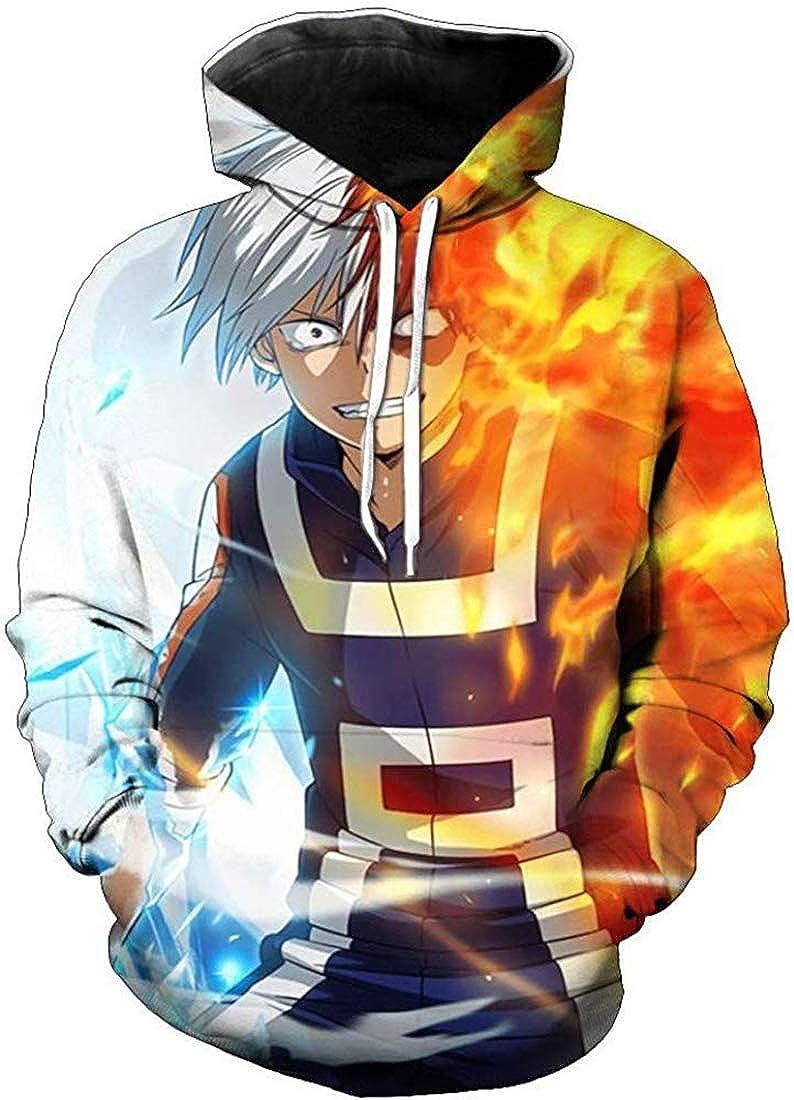 FLYCHEN Hombre Sudaderas con Capucha My Hero Academia Impresi/ón 3D Manga Japonesa Todoroki Shoto All Might