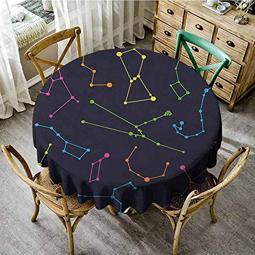 Rank-T Spots Round Table Cloth 50