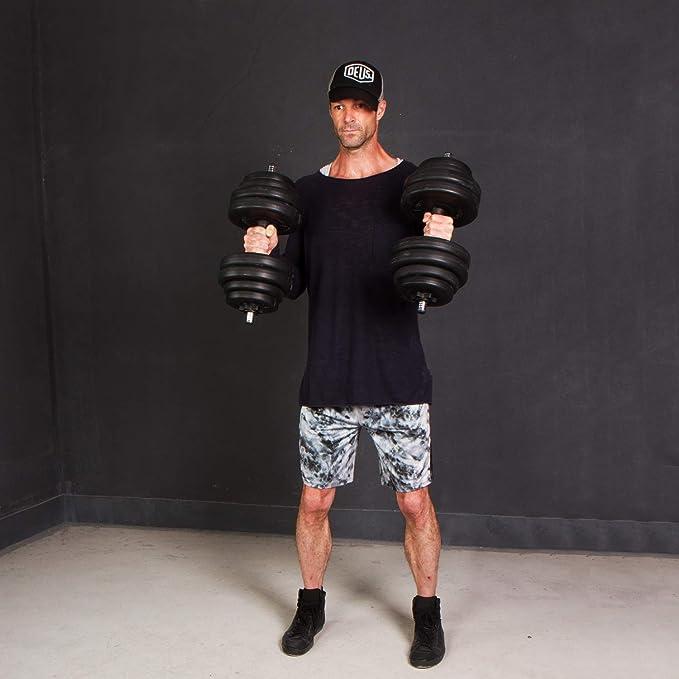 CCLIFE 40 kg Ajustable Plástico Pesas Mancuernas de Fitness Pesas: Amazon.es: Deportes y aire libre
