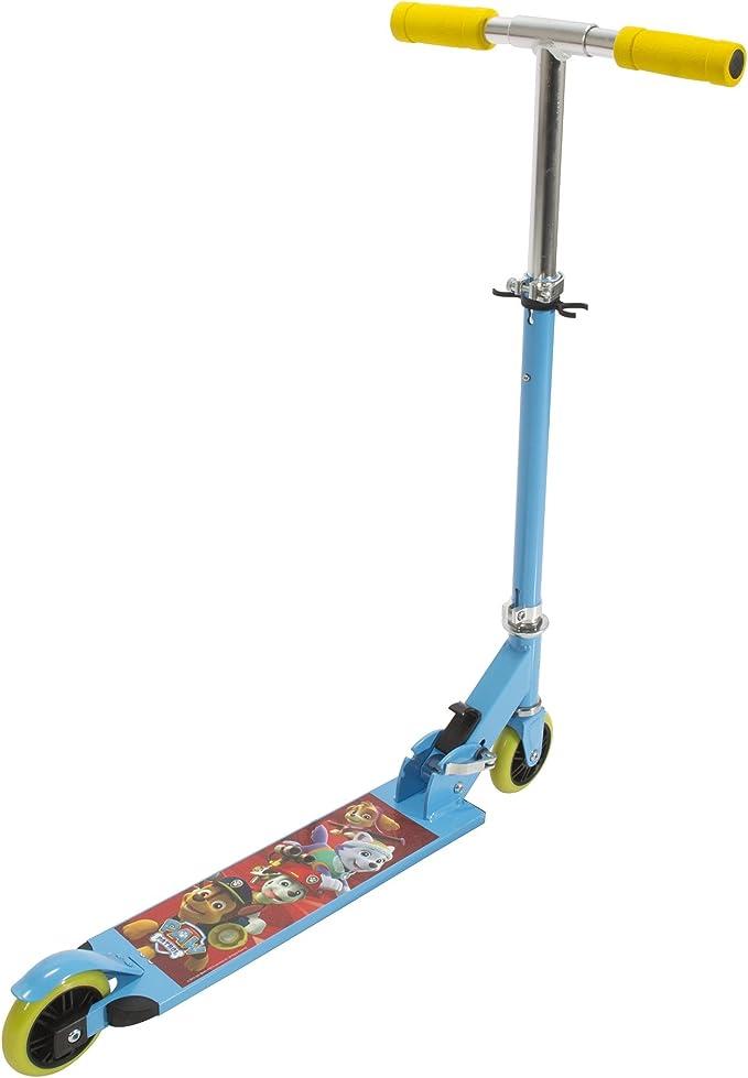 Amazon.com: playwheels Paw Patrol aluminio plegable scooter ...