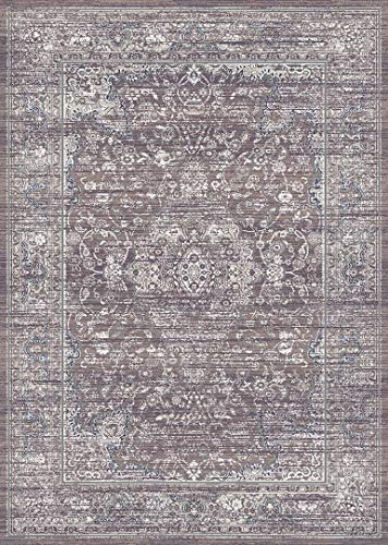 Symphony Area Colorful Luxury Rug for Bedroom, Living Room, Dining Room (5'2'' X 7'6'') Design 27013 Taupe Ivory Cream Beige Traditional Floral Oriental Bohemian for Bedroom, Living Room, Dining (Symphony Taupe Rug)