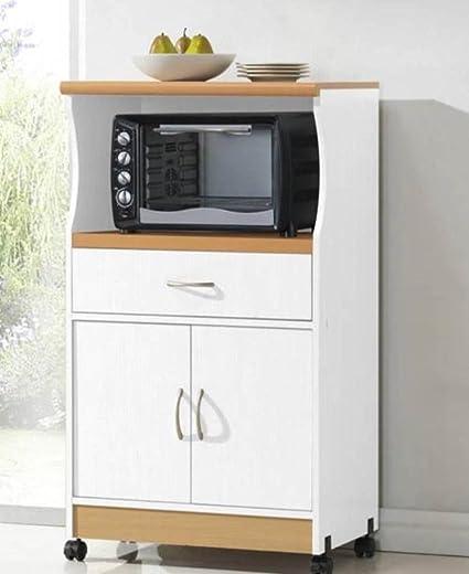 Amazon Hodedah Import Hodedah Microwave Cart With One Drawer