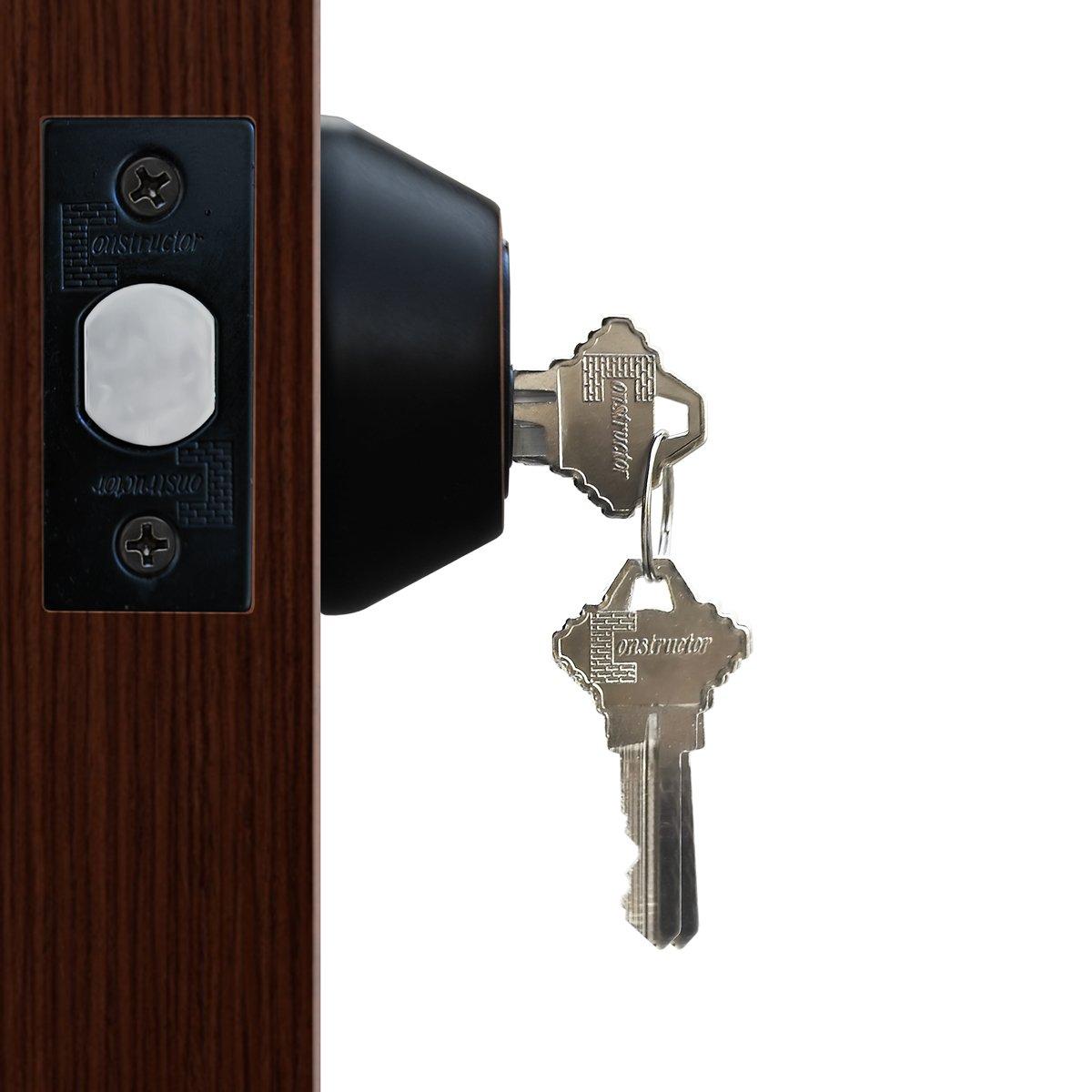 Constructor Deadbolt Door Lock Set Single Cylinder Oil Rubbed Bronze Finish CON-DBT-ORB-S-FBA