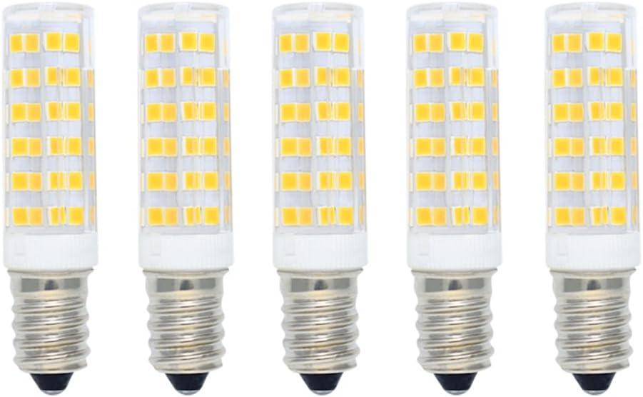 Bombilla Maíz LED 7W E14 Equivalente a Bombilla Halógena 60W 550LM Blanco Cálido(3000K),Bombillas LED de Ahorro de Energía,Bombillas SES LED,Angulo de Haz de 360 ° No Regulable AC220-240V 5 piezas: Amazon.es: Iluminación