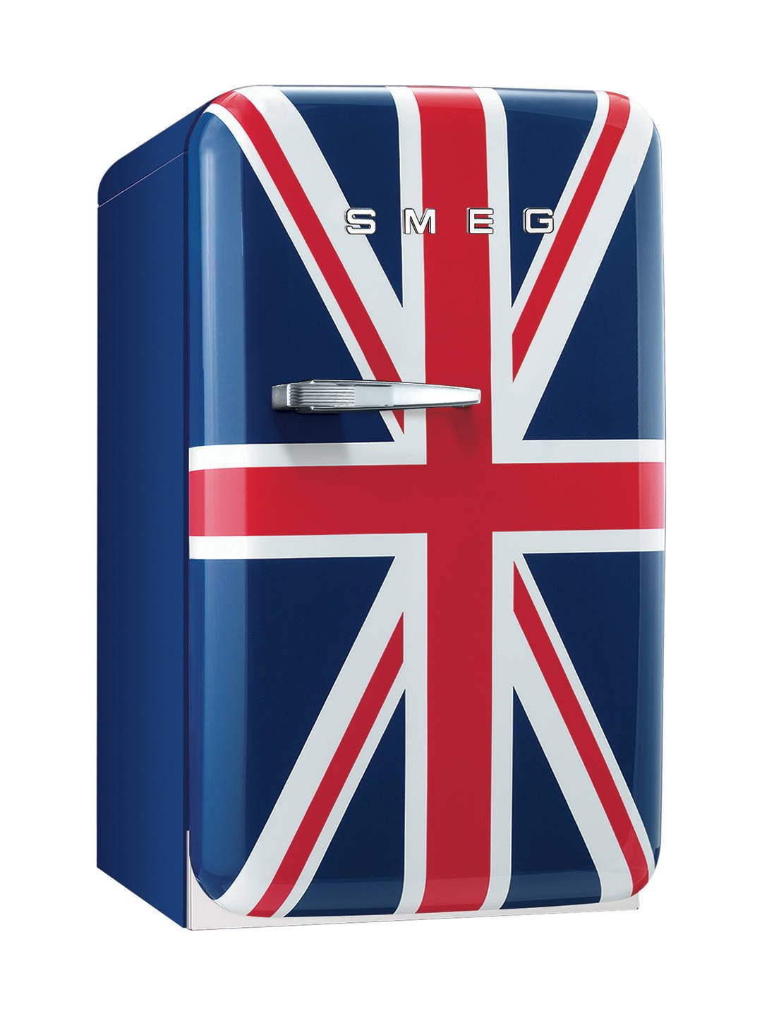 smeg fab5ruj fridge 50u0027s retro style right hand hinged 40cm union jack amazoncouk large appliances