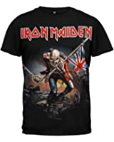 Iron Maiden T-shirt Trooper Tee British Flag