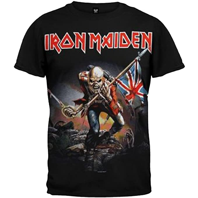 f9ac68365 Amazon.com: Iron Maiden The Trooper T-Shirt: Clothing