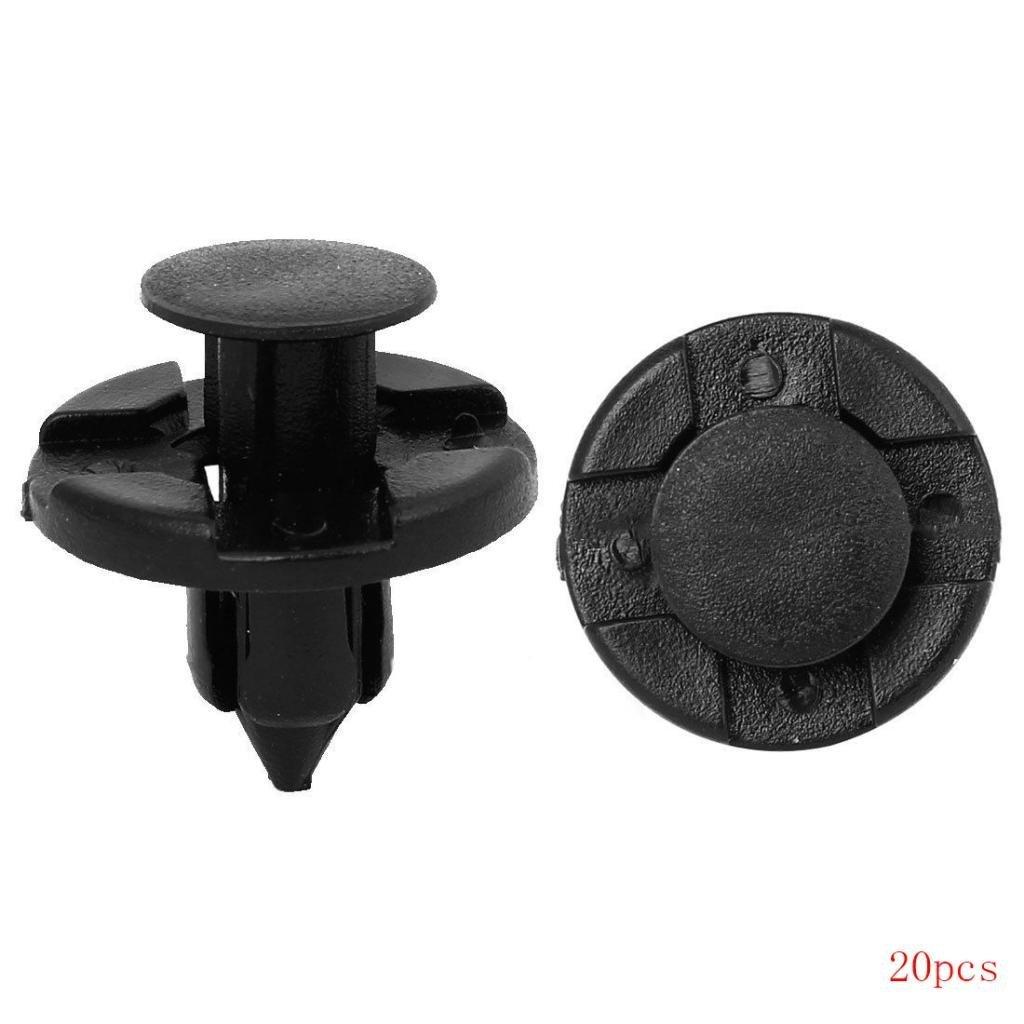 Naisidier 20PCS 8 mm foro rivetti in plastica fissaggio parafanghi paraurti parafango gancetti