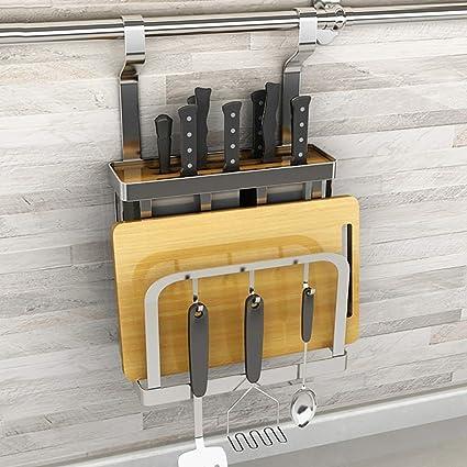 Estantes y soportes para ollas y sartenes Estante de cocina Estante para ollas de acero inoxidable