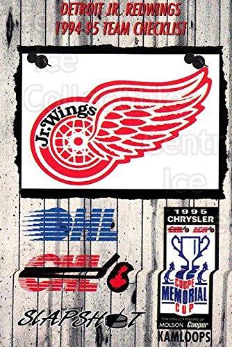 - (CI) Detroit Jr. Red Wings, Checklist Hockey Card 1995-96 Slapshot Memorial Cup 104 Detroit Jr. Red Wings, Checklist