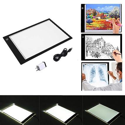 Amazon.com  Ultra-Thin led Sketch tracing Light pad Light up Tracing ... dd6f482d628e