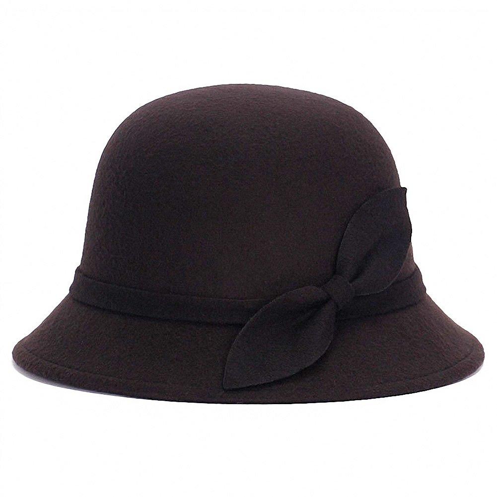 1920s Accessories: Feather Boas, Cigarette Holders, Flasks Tobe-U Cloche Bucket Bowler Fedora Floppy Derby Vintage Felt Hat Cap Women $9.99 AT vintagedancer.com