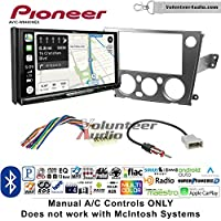 Volunteer Audio Pioneer AVIC-W8400NEX Double Din Radio Install Kit with Navigation, Apple CarPlay and Android Auto Fits 2005-2009 Subaru Legacy, Outback