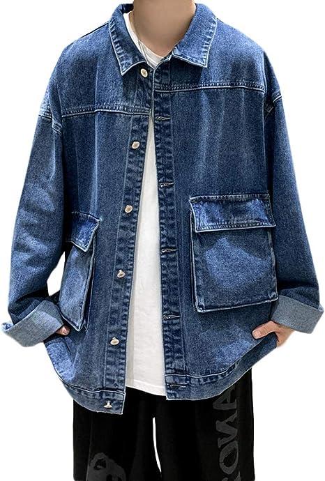 [DMbinshun]デニムジャケット メンズ ゆったり ジージャン 大きいサイズ 秋冬 ジャケット カジュアル 上着 秋服 おしゃれ ストリート系 アウター コート