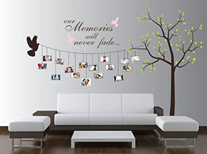 Large Photo Tree Wall Decal, Customizable Family Tree Decal