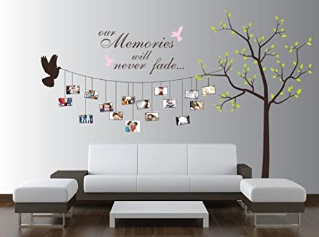 Large Photo Tree Wall Decal, Customizable Family Tree Decal - Wall ...