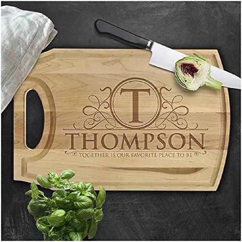 utting Board, Custom Engraved Cutting Board with Juice Drip Groove, Christmas Gift, Wedding Gift, Anniversary Gift, Housewarming Gift (10-1/2
