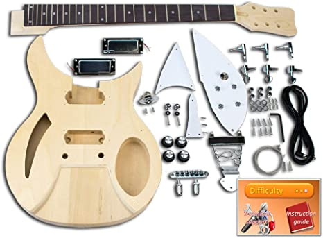 Kit de guitarra eléctrica – Rickenbacker, Basswood: Amazon.es ...