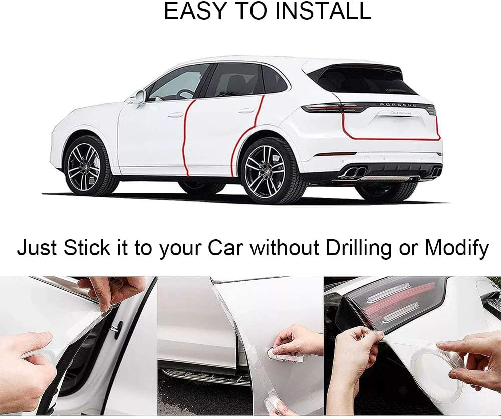 5M Autoaufkleber Sto/ßstange Spoiler Kantenschutz Sticker 5cm x 5m Auto Einstiegsleisten Kohlefaser Aufkleber Universal