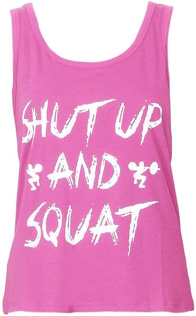 Oyedens Tank Top Vest T Shirt Donne Canottiera Maglietta Palestra Fitness Yoga Sport Canotta Stretch Senza Maniche Gilet Sportivi Estate Moda Canotte Donna