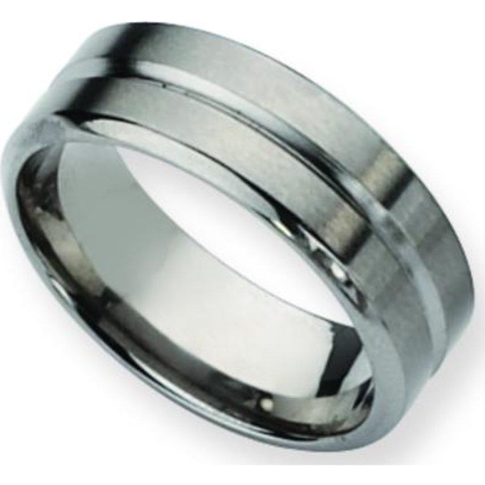Titanium 8mm Mens Brushed Wedding Ring Band Sz 10.5