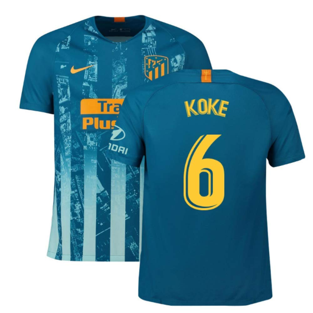 2018-2019 Atletico Madrid Third Nike Football Soccer T-Shirt Trikot (Koke 6)